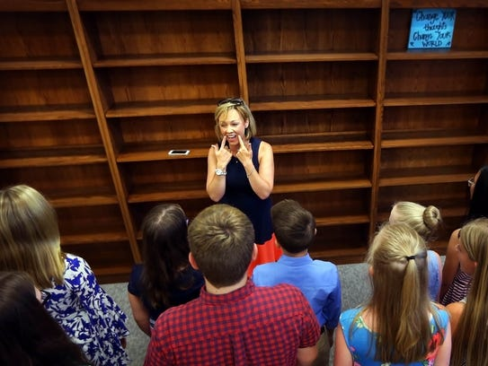 Tonya Miller, choir director at the new Lakeland Middle