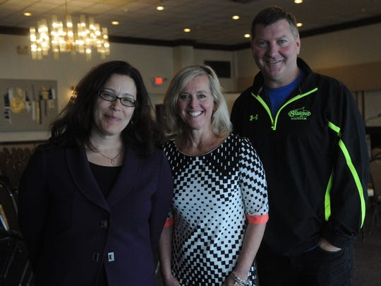 The Delaware Restaurant Association organized a symposium at the BayCenter in Dewey Beach on May 23, to address issues related to alcohol safety and service. Among the presenters were Dena Calo of Saul Ewing Legal HR, left; Carrie Leishman, President and CEO, Delaware Restaurant Association; and Steve Montgomery, Chairman of the Board, DRA.
