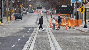 Streetcar track installation work moved into Downtown from Over-the-Rhine this week.