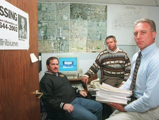 Mesa police Detective Jerry Gissel (left), Detective