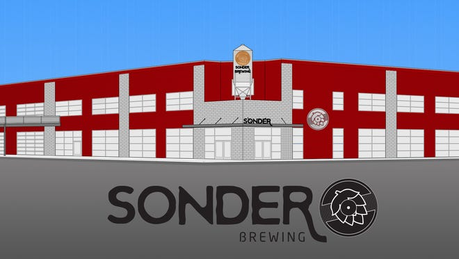 A rendering of the new Sonder Brewing in Deerfield Township.