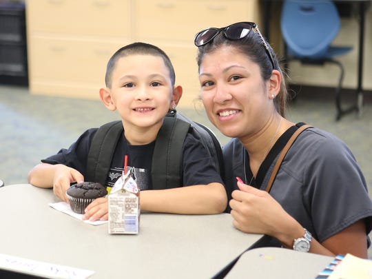The first day of school at Bella Vista Elementary in