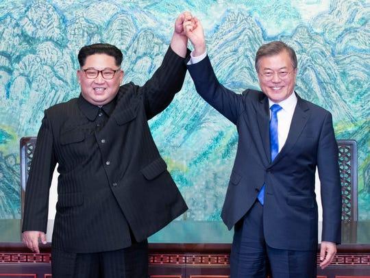 In this April 27, 2018, photo, North Korean leader