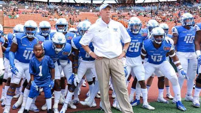 MTSU played Hawaii Saturday, Dec. 24, 2016 in the Hawaii Bowl. The Blue Raiders fell 52-35.