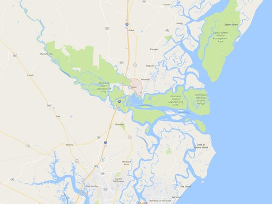 Darien, Georgia, is located off I-95 about 250 miles north of Melbourne, Florida.