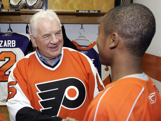 Terry Crisp, a two-time Stanley Cup winner as a player with the Flyers, remains a popular hockey figure in Philadelphia.