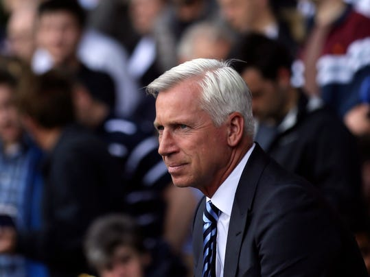 FILE - In this Saturday Aug. 20, 2016 file photo, Crystal Palace manager Alan Pardew looks across the pitch prior to their English Premier League soccer match against Tottenham Hotspur at White Hart Lane in London. Pardew's position as Palace manager looks increasingly fragile, with the team losing its last six league games and conceding goals at an alarming rate. A home loss to Southampton on Saturday, Dec. 3 could drop Palace, which is currently fourth-to-last in the standings, into the relegation zone and potentially force the owners' hand. (AP Photo/Tim Ireland, file)
