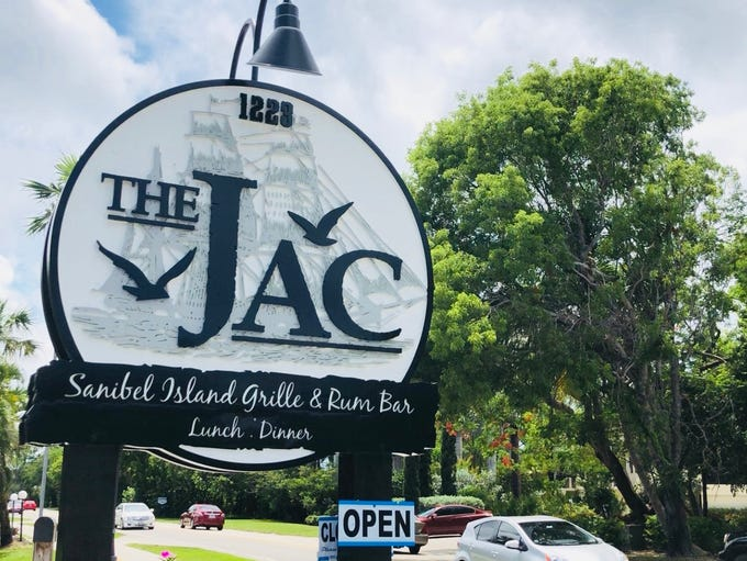 The Jac Island Bar and Grille's new sign on Periwinkle