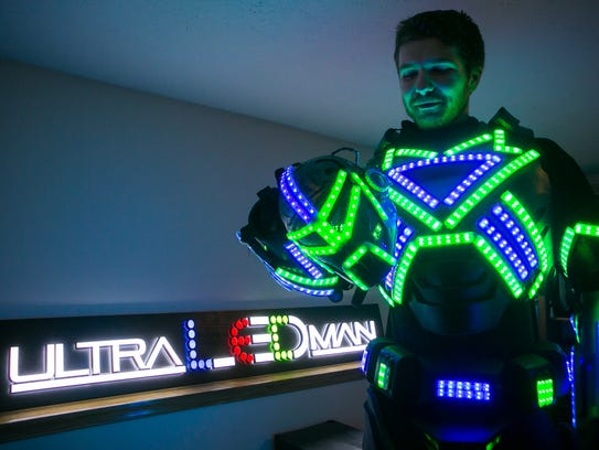 Pike Creek's Spencer Bahnsen tours the East Coast as Ultra LED Man. He headlines The Queen Friday night in Wilmington.