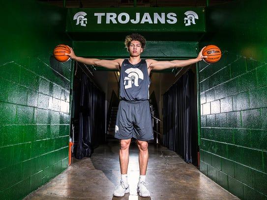 New Castle Trojans junior standout Mason Gillis.