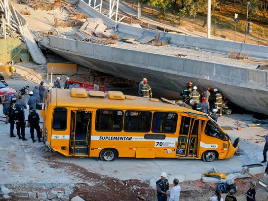 AP Brazil Wcup Overpass Collapse