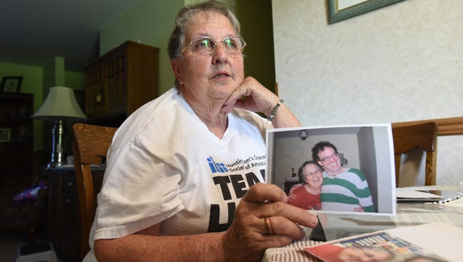 Phyllis Shoemaker talks about her son, Sherman Phillip Shoemaker, who died from Huntington's Disease. Shoemaker organized the Huntington's Disease Society of America Team Hope Walk eight years ago to raise awareness of the disease.