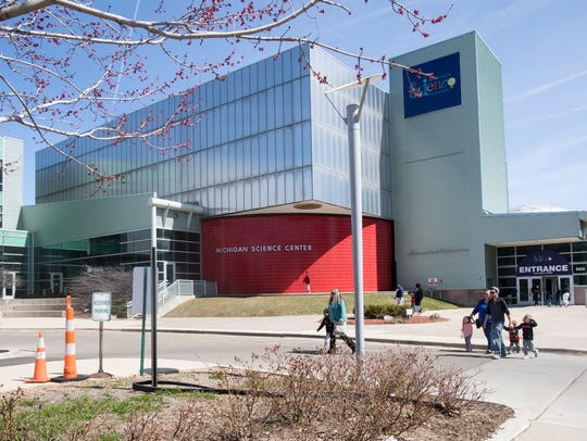 The Michigan Science Center is photographed in Detroit,
