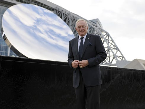 Cowboys owner Jerry Jones needs to look into the Sky Mirror in front of AT&T Stadium to find what ails the team.