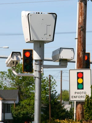 The red light camera at 11th Street and Warren Avenue in Bremerton.