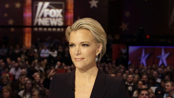 Moderator Megyn Kelly waits for the start of the Republican