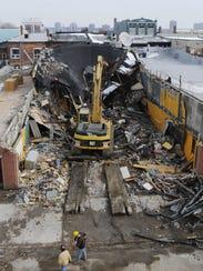 Torello Demolition tore down part of the former Huron