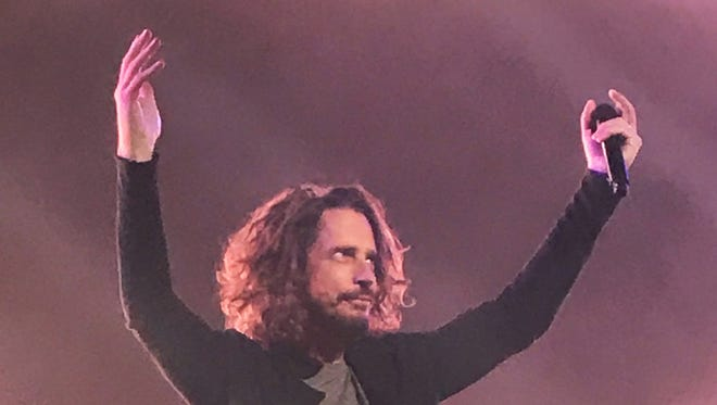 Chris Cornell performs with Soundgarden Wednesday night at the Fox Theatre in Detroit.