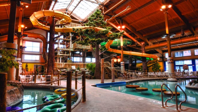 Timber Ridge Lodge & Waterpark in Lake Geneva added lights and music to its Avalanche Falls water slide.