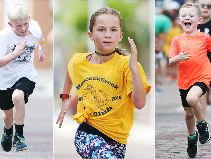More than 200 kids ran in a series of races on Sunday