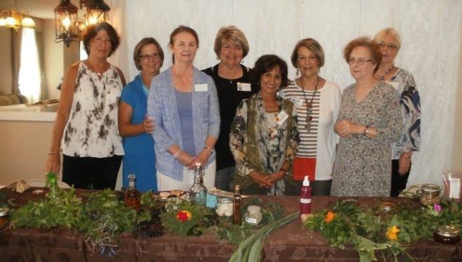 Margie Casebolt, Cheryl Kleer, Janie Mosey, Sandy Witherby, Rita Heikenfeld, Pat Jarvis, Cindy Wiggans and Ann Herrman attended the September Petal & Stem Garden Club meeting at  the Olde North Chapel. Heikenfeld presented the meeting's program.
