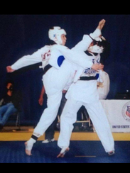 Heidi Gilbert, left, competing in the Pan-American