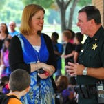 Oak park Elementary School principal Jennifer Rockwell has been working with BCSO Lt. Mike Scully, district & school security, for a solution to the problem of parents coming on campus without signing in and also coming on campus to pick up their children to  avoid the long car line.