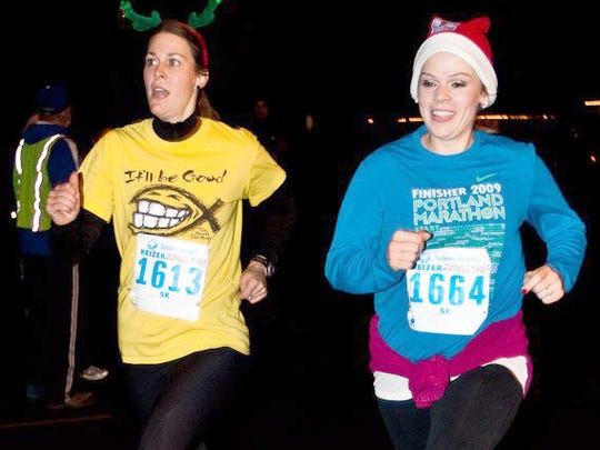 Run, walk or stroll down River Road N while spectators for the Keizer Holiday Lights Parade prepare for the light show to begin at the Keizer Jingle Dash 5K Run/Walk.