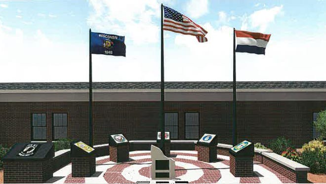 A rendering of the Little Chute Legion Memorial.