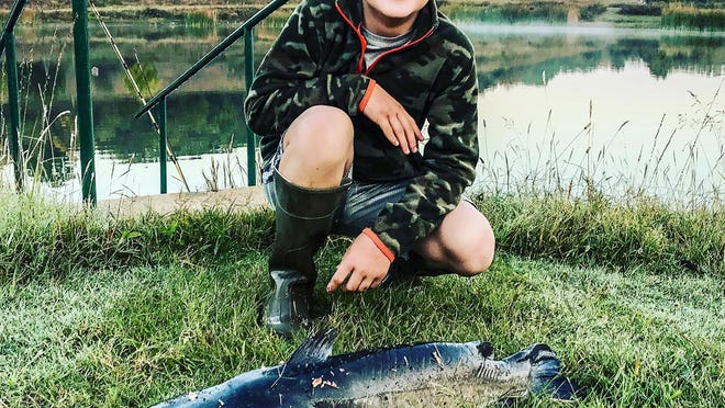 The McDonalds used the liver from a whitetail doe that 11-year-old Mason shot to catch some nice channel catfish last month.