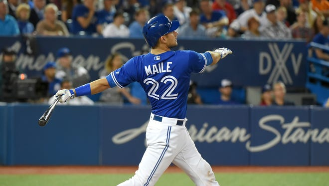 Toronto Blue Jays catcher Luke Maile's home run was a turning point in the game.