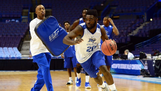 Giddy Potts has played point guard at times for MTSU, but might not be the best candidate for the job going forward.