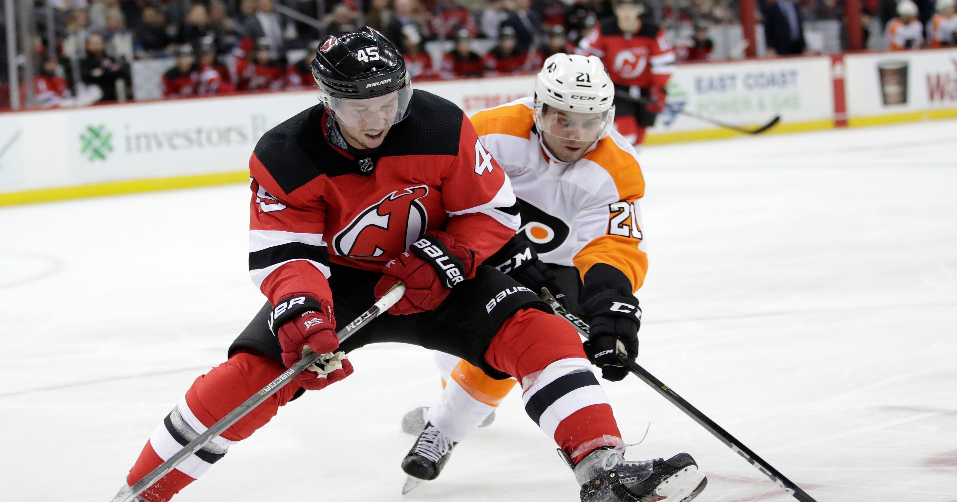 456e4856d NJ Devils Live Blog  Devils rally for 4-3 win over Flyers