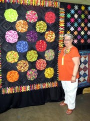Pictured: Barb Tryon, member of A Patch of Lakeshore Quilt Guild. The Guild's biennial quilt show will be April 8-9 at the Manitowoc County Expo/Ice Center.