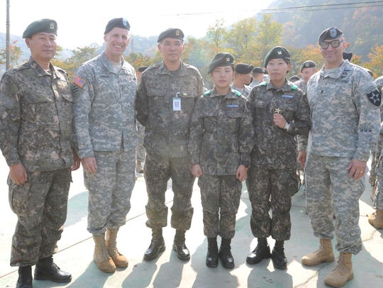 More than 500 South Korean and U.S. soldiers started