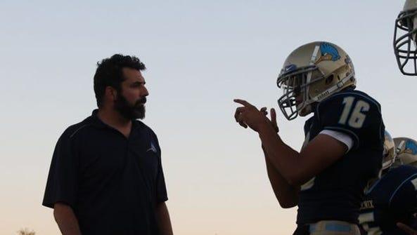 Phoenix Day School for the Deaf quarterback Cesar Aranda