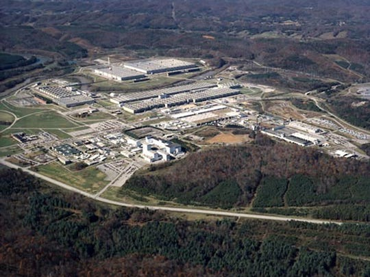 The sprawling gaseous diffusion plant, where uranium was enriched for the World War II-era Manhattan Project is seen in Oak Ridge, Tenn. More than 70 years ago scientists working in secret created the atomic bomb that ended World War II and ushered the world into the nuclear age.