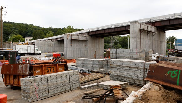 Ashford Avenue bridge in Ardsley was under repair Thursday,