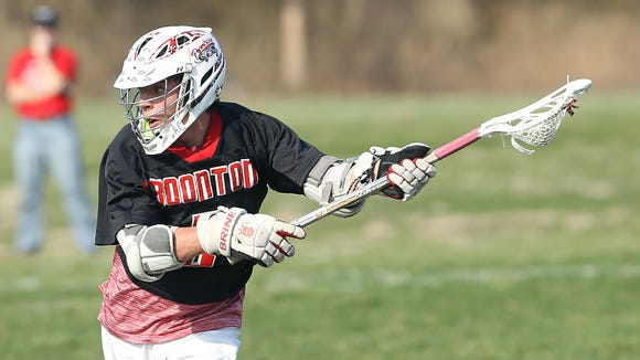 Boonton junior midfielder Ryan Lourick looks to shoot during a game at North Warren on April 11.