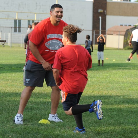Jamil Demby gives back at Vineland Midget Football League camp