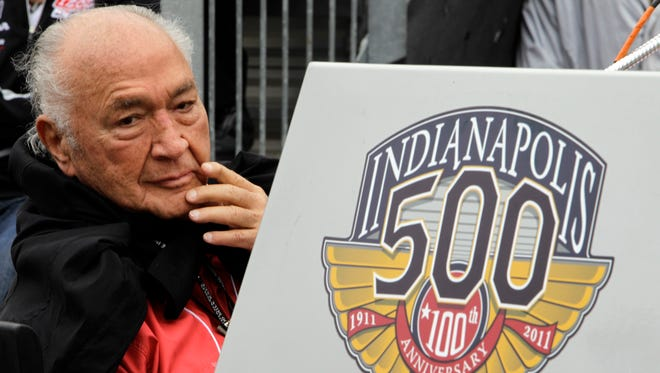 Andy Granatelli looks on during the drivers' meeting for the 2011 Indianapolis 500 at the Indianapolis Motor Speedway.