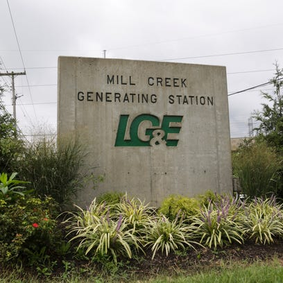 The entrance sign at the Mill Creek Generating Station