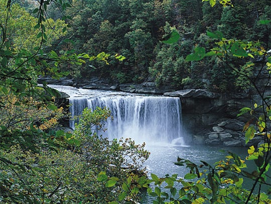 Cumberland Falls is the largest falls east of the Rockies,