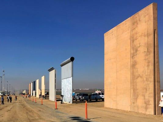 AP BORDER WALL PROTOTYPES A FILE USA CA