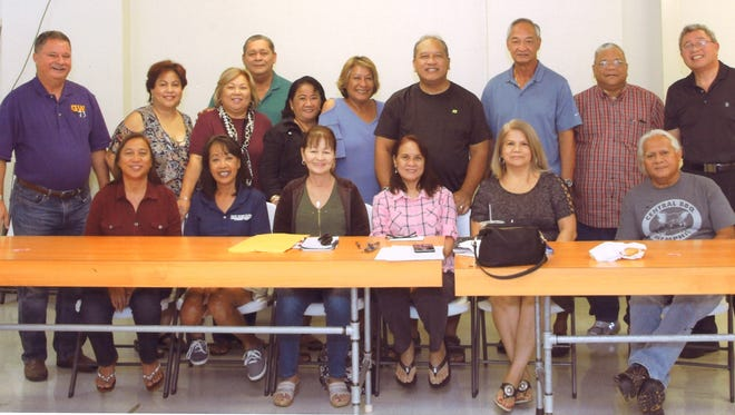 George Washington High School Class of 1973 committee members are shown during a reunion meeting on July 14. Bottom row: Elaine Cruz Guerrero, Irene Sanchez Mafnas, Bobbie Bolton, Jo Ann Villamor Toves-vice president, Carmen Francisco Castro-secretary, and Joseph Borja. Back row: Herbert Johnston-president, Doris Leon Guerrero Salas, Marie Valencia Leon Guerrero, Joseph Leon Guerrero-sergeant at arms, Barbara Delgado, Barbara Blas, Pedro Toves-class photographer, Lawrence Castro -treasurer, Roy Leon Guerrero and Joseph Tenorio. Not pictured: Joseph Baza, Jackie Taienao Cruz and Rudy Cruz. A reunion picnic is set for 10 a.m. to 4 p.m. July 28 at Leon Guerrero, Inarajan and a banquet from 6 to 11 p.m. August 4 at Nikko Hotel Guam.
