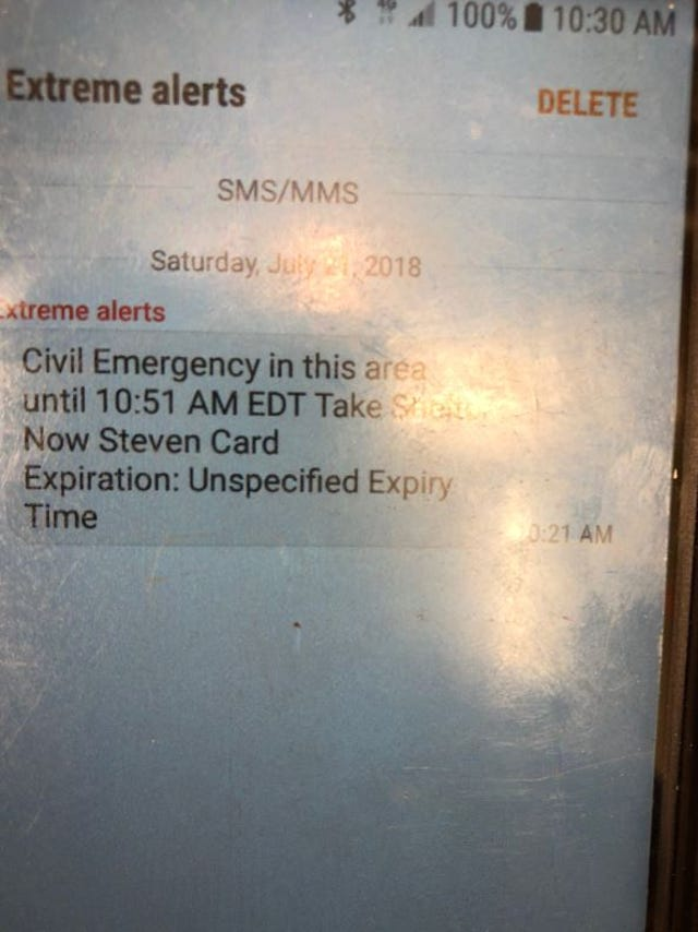 Emergency alert: East Tennessee residents told to ignore message