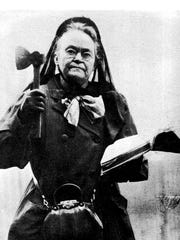 Temperance activist Carrie Nation is part of the inspiration