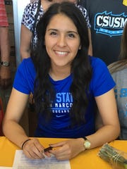Alexandra Fabela, a Palm Desert High School girls' soccer player, is head to Cal State University San Marcos in the fall.