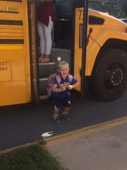 Chase Williams finally got to ride the school bus last year on his first day of 4K.