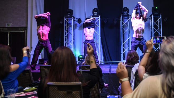 The California Bad Boyz dazzle the crowd, for reasons that include their dancing skills, at the Sheraton Laguna Guam Resort on Jan. 11, 2016.